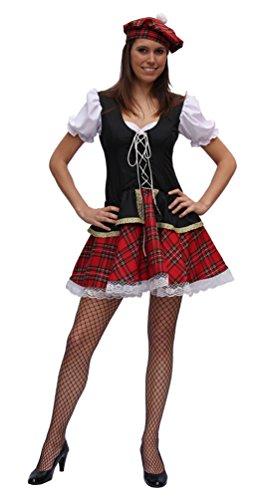 ,Karneval Klamotten' Kostüm Sexy Schottin Highlands Dame Kostüm Karneval Schottland Damenkostüm Größe 38-44 (Schottland Kostüme Für Kinder)
