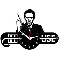EVEVO Dr House Reloj de Pared Vinilo Tocadiscos Retro de Reloj Grande  Relojes Style habitación Home b0d693e732b