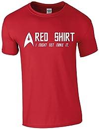 Red Shirt Funny Star Trek Inspired Men Top - T-Shirt