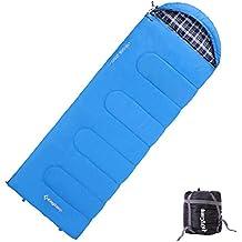 KingCamp Saco de Dormir para Adulto (Talla Grande, 3 Estaciones, 24F/-