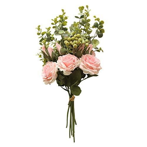 bloatboy Simulation Rose Hortensie Blumen Strauß Home Hochzeitsfeier Geschenk Deko (Rosa) (Türkis-hochzeit Kuchen-boxen)