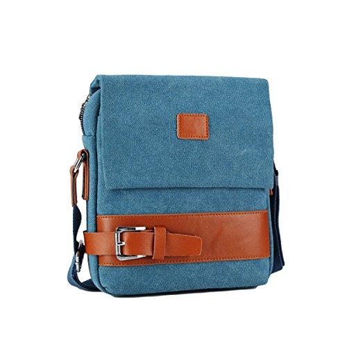 Umhängetasche Der Männer Taschen Weiche Beutel-beiläufige Art- Und Weisekleiner Rucksack Blue1