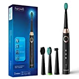 Electric Toothbrush,Fairywill Sonic Toothbrush 3 Optional Modes and 3 Replacement Heads for Adults