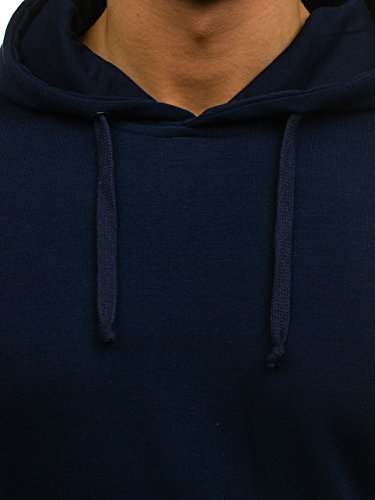 BOLF - Felpa con cappuccio – BBG MODA 6003 - Uomo Blu scuro