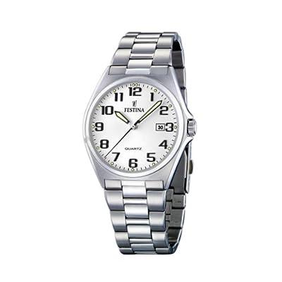 FESTINA F16374/9 - Reloj de caballero de cuarzo, correa de acero inoxidable color plata de FESTINA