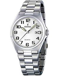 FESTINA F16374/9 - Reloj de caballero de cuarzo, correa de acero inoxidable color plata