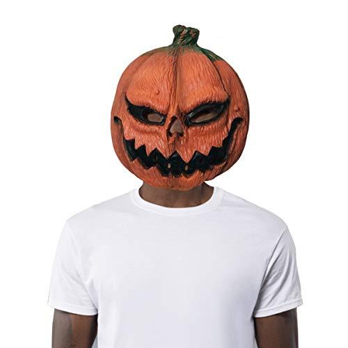 Finalshow Halloween Maske Dekoration Party Mask Lustig Gruselig Festival Erwachsene Kostüm Latex Kopf Kürbis