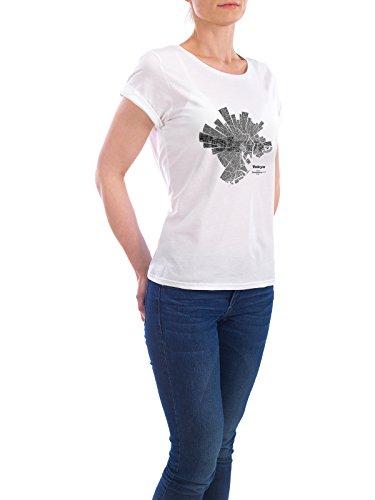 """Design T-Shirt Frauen Earth Positive """"Tokyo light"""" in Weiss Größe S - stylisches Shirt Abstrakt Städte Kartografie Reise Architektur von ShirtUrbanization"""