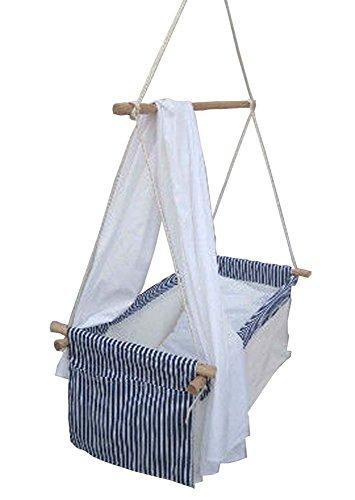 *Hanse-Baby Babyhängematte Hängenest Babywiege Babyschaukel Hängewiege Hängematte Wiege blau*