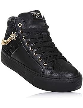Liu Jo Girl UM23271 Nero Sneakers Scarpe Donna Bambina Calzature Comode