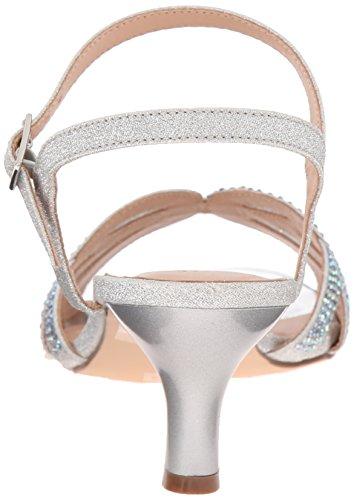 Pleaser Damen Audrey 03 Sandalen Silber (Slv Shimmering Fabric)