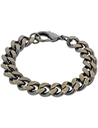 Bronze Men's Gold Plated Curb Bracelet of 20cm