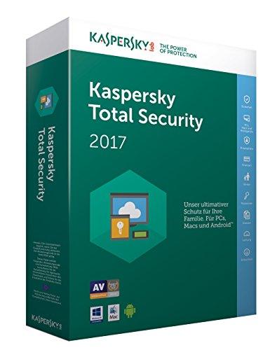 Preisvergleich Produktbild Kaspersky Total Security 2017 / 3 Geräte / 1 Jahr / PC / Mac / Android / Download