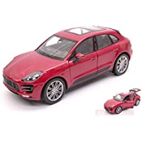 NEW Welly WE24047R Porsche MACAN Turbo 2014 Prune Metallic 1:24 MODELLINO Die Cast