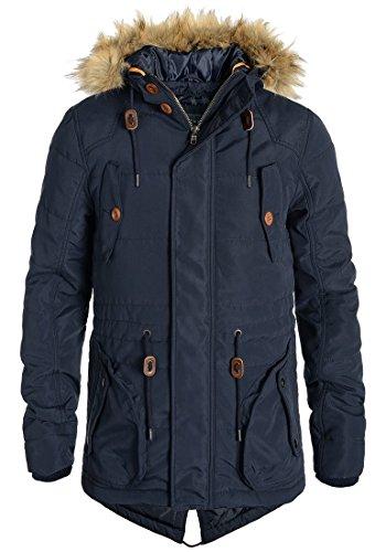 BLEND Polygamma Herren Parka Winterjacke Kapuze mit hochabschließendem Kragen aus hochwertiger Materialqualität, Größe:M, Farbe:Navy (70230)