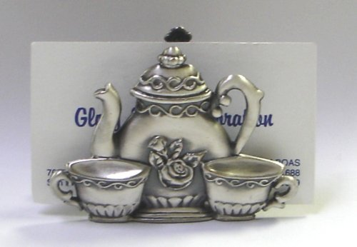 Name Card Holder - Coffee Pot/2 Cups (Item # 1389) by Glory Land Corporation Land Pot Holder