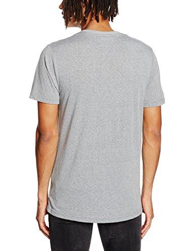 Mick Morrison Herren Modernes T-Shirt Grau (dunkelgrau Melange 075)
