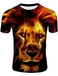 216f89113e0 Amazon.es  leon 3d - 2XL   Camisetas   Camisetas