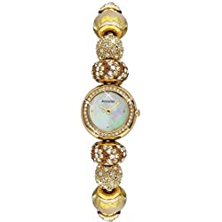 Accurist Ladies Gold Plated Charmed & Crystalised Watch