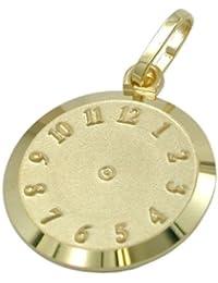 Anhänger Uhr Geburtsanhänger 9Kt GOLD 430641