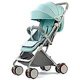 Faltbarer Neugeborenen-Kinderwagen Einstellbares Luxus-Kinderwagen-Reisesystem mit hoher Sicht und Antivibrationsfeder. Einfach zu installieren