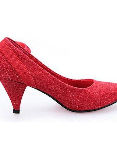 WSS 2016 Chaussures Femme-Décontracté-Rouge / Argent / Or-Talon Aiguille-Talons-Chaussures à Talons-Polyuréthane golden-us6.5-7 / eu37 / uk4.5-5 / cn37