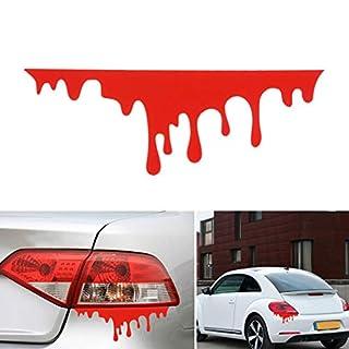 Fansport Auto Aufkleber Blutiger Entwurfs Reflektierender Auto Aufkleber Dekor