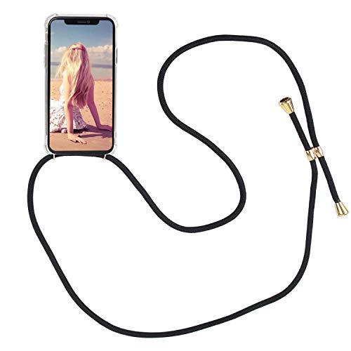 Imikoko Handykette Hülle für iPhone X/XS Necklace Hülle mit Kordel zum Umhängen Silikon Handy Schutzhülle mit Band - Schnur mit Case zum umhängen
