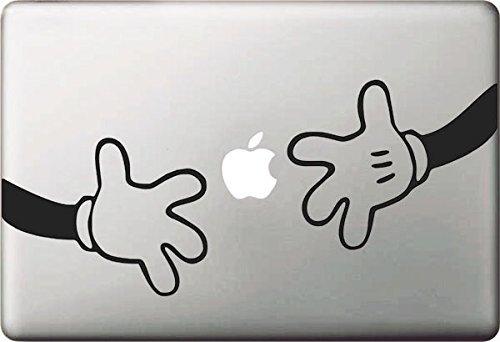 ble Mickey und Minnie Hand Aufkleber Aufkleber Skin Art Schwarz für Apple Macbook Pro Air Mac 13