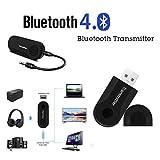 Big-Mountain-Watch Bands Bluetooth Adapter Wireless Transmitter Sender Stereo Audio Musik Adapter USB BT 4.0 Dongle Stick Adapter Für Fernsehapparat PC Y1X2 (Schwarz)
