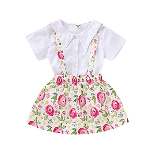 MRULIC Baby Mädchen Outfits Kleidung Bowknot Weste Tops + Plaid Shorts Hosen Sets Anzug 1-6 Jahre(X4-Weiß,80)