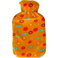 Wärmflasche 2 Liter mit Fleece-Bezug (Bezug orange) preisvergleich bei billige-tabletten.eu