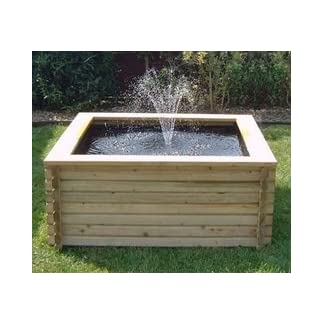 SQUARE RAISED GARDEN POOL 120 GALLON + LINER + PUMP FISH POND TANK EASY DIY SQUARE RAISED GARDEN POOL 120 GALLON + LINER + PUMP FISH POND TANK EASY DIY 41dKr7bmNSL