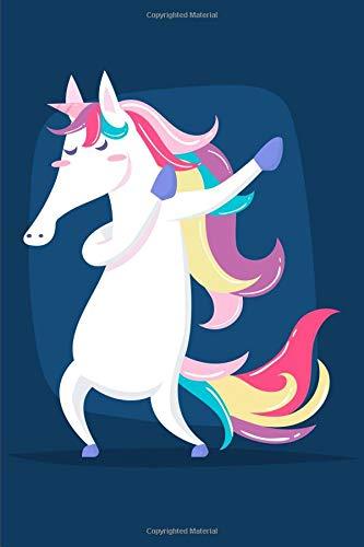 Dabbing Beautiful Unicorn Notebook: Journal Paper Composition Notebook