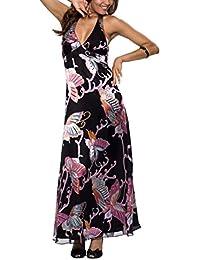 Astrapahl, Elegantes Abendkleid aus Seide, Multidruck , Länge lang, Farbe schwarz
