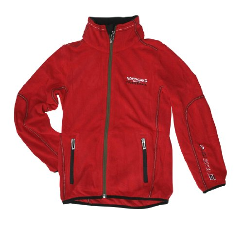 Northland Kinder Fleecejacke Helium Boys Cool, Red, 140 (Winter Mantel Jungen North Face)