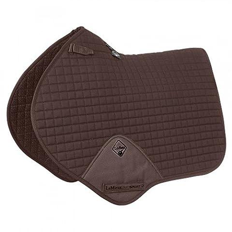 Lemieux Unisex Pro Sport Close Contact Square D-Ring Saddle Cloth, Brown, Medium