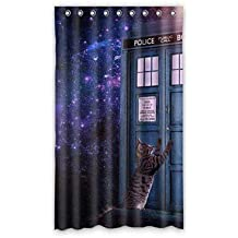 "Dalliy Galaxy Cat Le Tende Tenda Tenda Della Finestra Poliestere window Curtains 50""x84"" about 127cm x 213cm(Un pezzo)"