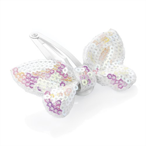 Pearly Snaps (Bling Online Pink Pearly Sequin Butterfly Hair Snap Clip Sleepie. by Bling Online.)