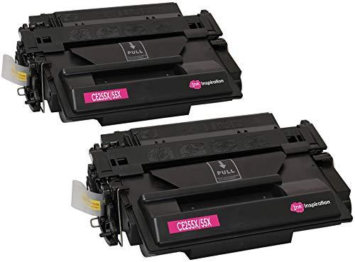 2 INK INSPIRATION® Premium Toner kompatibel für HP CE255X 55X Laserjet P3010, P3011, P3015, P3015D, P3015DN, P3015N, P3015X, Enterprise 500 MFP M525DN, M525F | 12.500 Seiten