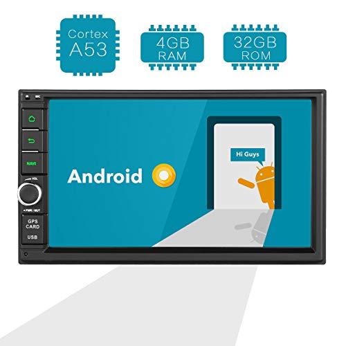 Amaseaudio 7 Zoll (17,8 cm) Android 8.0 Upgrade 4GB RAM 32GB ROM Octa-Core Doppel Din In-Dash Autoradio Car Stereo Multimedia GPS Navigations Empfänger Kopfeinheiten USB WiFi Bluetooth 4G HD Universal -