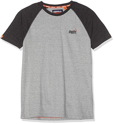 Superdry Herren ORANGE Label Baseball S/S Tee T-Shirt, Beige (Pumice Stone SXT), Large