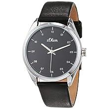 s.Oliver Damen Analog Quarz Uhr mit Leder Armband SO-3731-LQ