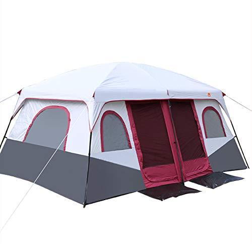 CCISS Zwei Schlafzimmer Und EIN Wohnzimmer Draussen Regenfest Anti-uv Doppeltür Atmungsaktiv Großer Raum 6-12 Personen Camping Zelt -