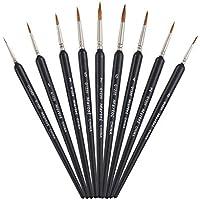 Juego de pinceles de pintura con mango triangular para pintar detalles, miniaturas, acrílico,