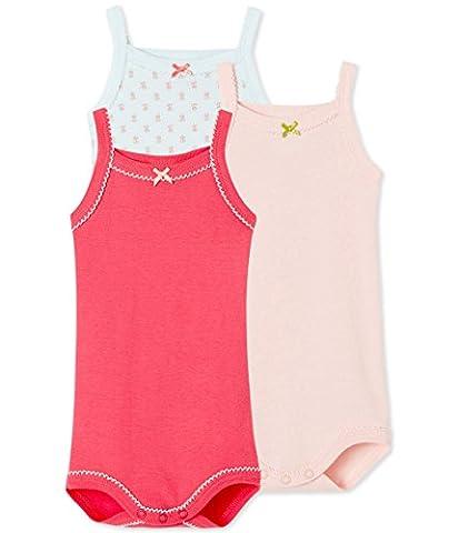 Petit Bateau Baby - Mädchen Body à bretelles_21866 Bodys,,3er Pack|#3per pack Mehrfarbig (special 00),104 (4ans/104cm)