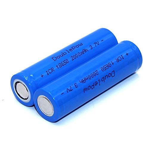 XuBa 2 Pcs 3.7V Batería Recargable de Iones de Litio de Alta Capacidad para Linterna