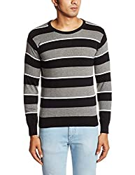 People Mens Cotton Sweater (8903880689971_P10101188002100_Large_Black)