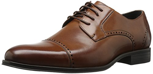 Stacy Adams Men's Stanwick Cap Toe Oxford, Cognac, 11.5 M US