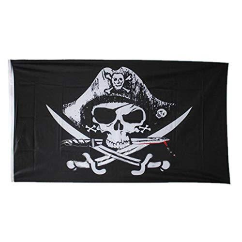 3x5 Fuß Piraten Jack Rackham Flagge Messer Jolly Roger Schädel Und Knochen-Polyester-Flagge Banner Mit Messingösen Knochen-gewebe